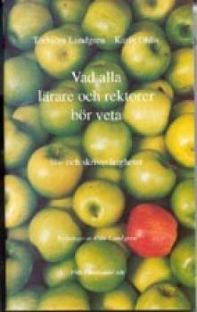 Många gröna äpplen med ett rött