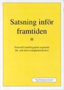 Skriften med titeln i svart på gul botten