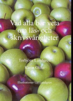 Bild på omslget med gröna äpplen och några röda
