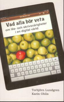 Bild på boken där en surfplatta med äpplen visas